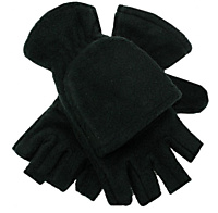 Half Finger Glove Business Post zwart fleece - 1