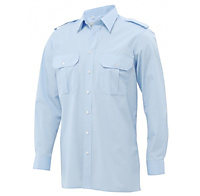 Pilotoverhemd heren Howard lange mouw - 1