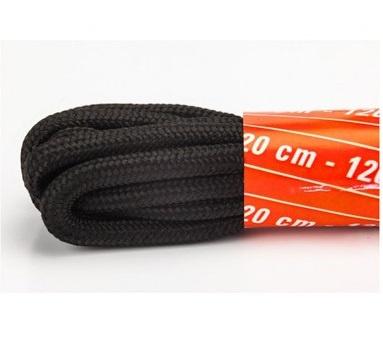 Veters zwart/grijs 120 cm. - 1
